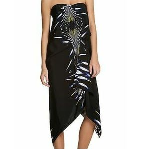 BCBG MAX AZRIA strapless asymmetrical dress size 2
